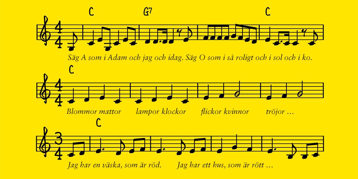 Sjung och träna svenska